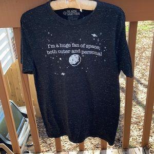 Black Matter space shirt.